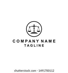 The attorney futuristic and simple logo design