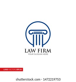 Attorney at law logo and law firm logo design, simple and clean vector.