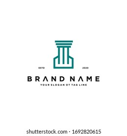 attorney logo design vector template