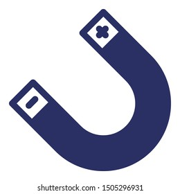 Attraction, horseshoe magnet isolated Vector Icon which can easily modify or edit
