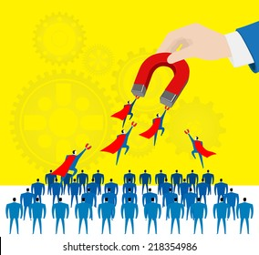 Attraction:Selecting the excellent staffs.