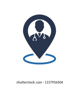 Attractive and beautifully or Faithfully Designed Doctor Medical Service Location Icon