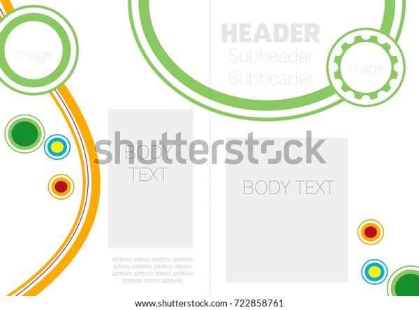 Attractive Company Profile Template Circular Linear Stock