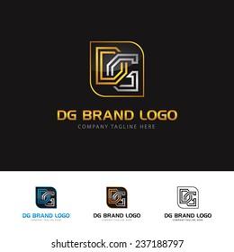 An attractive D&G letter brand vector logo symbol.