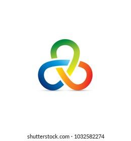 An attractive multi color logo and symbol.