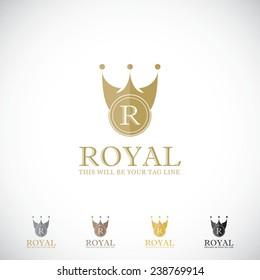 An attractive Royal vector logo symbol.