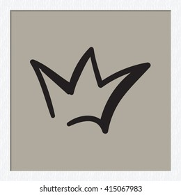 Attractive wedding crown vector fashion sketch. Beautiful illustration with hand drawn crown. Isolated art element for invitation and wedding decoration design.