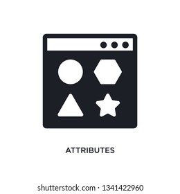 attributes isolated icon. simple element illustration from technology concept icons. attributes editable logo sign symbol design on white background. can be use for web and mobile