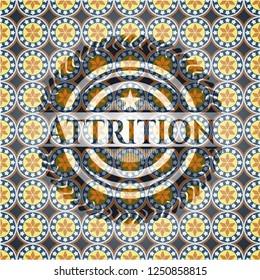 Attrition arabesque emblem background. arabic decoration.