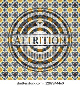 Attrition arabesque style emblem. arabic decoration.