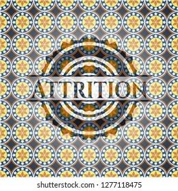 Attrition arabic emblem. Arabesque decoration.