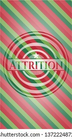 Attrition christmas badge.