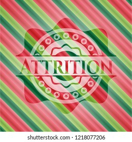 Attrition christmas colors emblem.