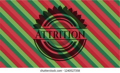 Attrition christmas emblem.