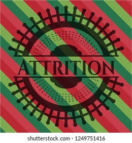 Attrition christmas style badge..