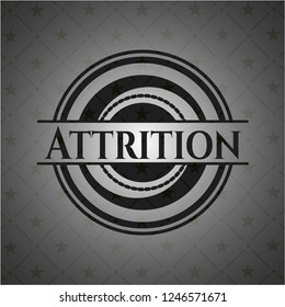 Attrition dark emblem. Retro