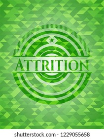 Attrition green mosaic emblem