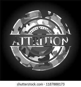 Attrition grey camouflage emblem