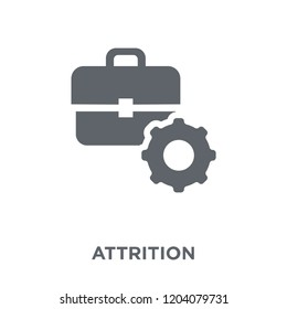 Attrition icon. Attrition design concept from Time managemnet collection. Simple element vector illustration on white background.