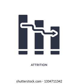 attrition icon. Simple element illustration from human resources concept. attrition editable symbol design on white background. Can be use for web and mobile.