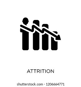 Attrition icon. Attrition symbol design from Time managemnet collection.
