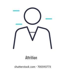 Attrition icon thin line. vector symbol
