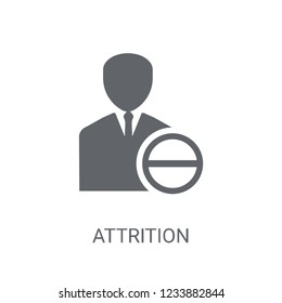 Attrition icon. Trendy Attrition logo concept on white background from Human Resources collection