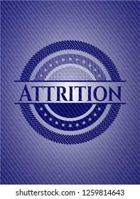 Attrition jean or denim emblem or badge background