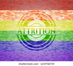 Attrition lgbt colors emblem