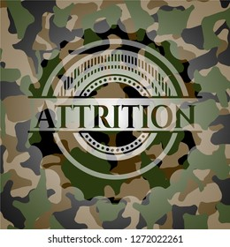 Attrition on camouflage texture