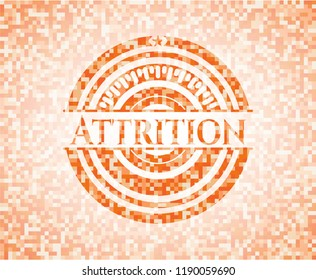 Attrition orange mosaic emblem