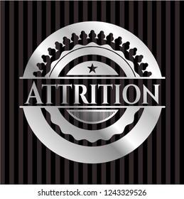 Attrition silvery badge or emblem