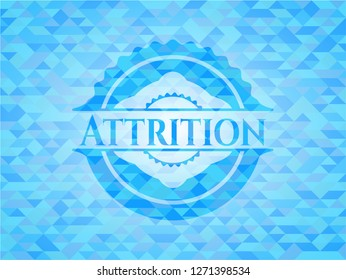 Attrition sky blue mosaic emblem