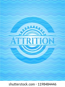 Attrition water emblem background.