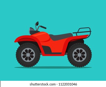 ATV motorcycle isolated. Vector flat style illustration.