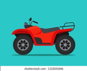 ATV motorcycle isolated. Vector flat style illustration.