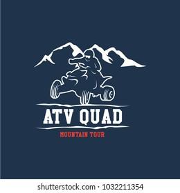 ATV Quad Logo Vector Template Design