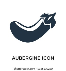 Aubergine icon vector isolated on white background, Aubergine transparent sign