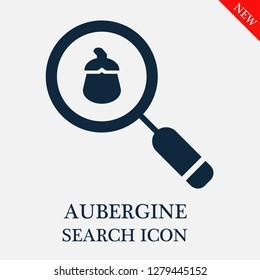 Aubergine search icon. Editable Aubergine search icon for web or mobile.