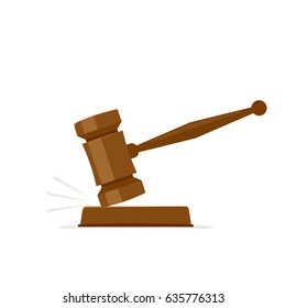 auction hammer or gavel vector illustration