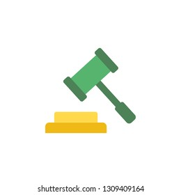 Auction hammer icon. Element of Banking icon for mobile concept and web apps. Detailed Auction hammer icon can be used for web and mobile