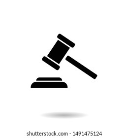 Auction Hammer icon vector. Judge sign