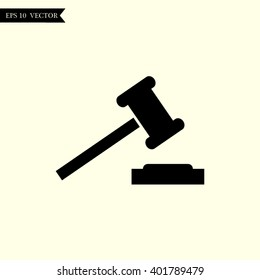 auction icon. court sign verdict symbol