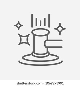 Auction icon line symbol. Isolated vector illustration of  icon sign concept for your web site mobile app logo UI design.
