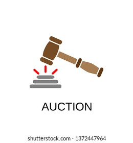Auction icon. Auction symbol design. Stock - Vector illustration can be used for web