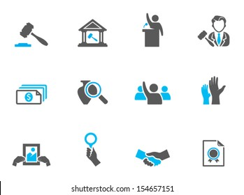 Auction icons in duo tone colors