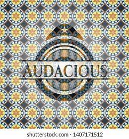 Audacious arabic emblem. Arabesque decoration.