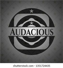 Audacious black emblem. Vintage.