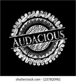 Audacious chalk emblem
