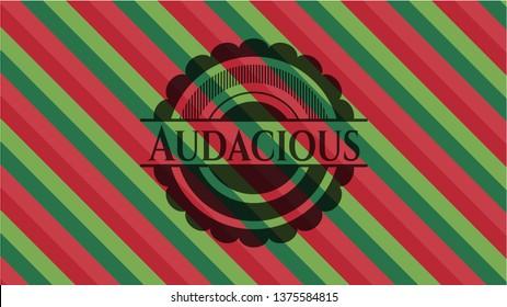 Audacious christmas colors emblem.